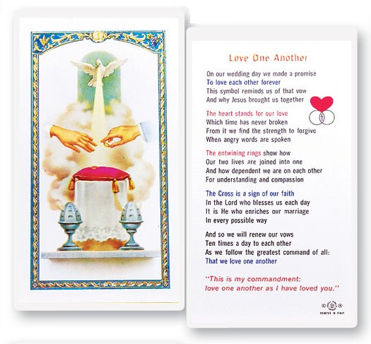 Love One Another Marriage Laminated Prayer Cards 25 Pack - Full Color