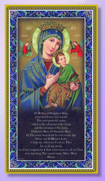 Our Lady of Perpetual Help Italian Prayer Plaque - Multi-Color