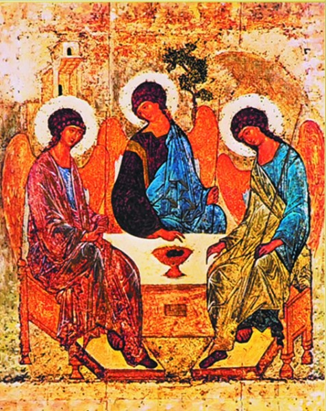 Holy Trinity Print - Sold in 3 per pack - Multi-Color