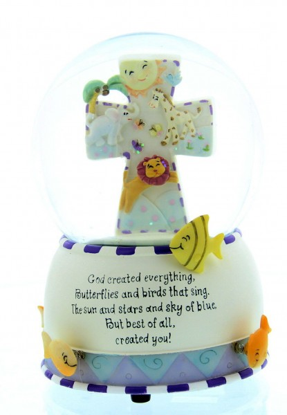 God Created Everything Musical Water Globe - Multi-Color
