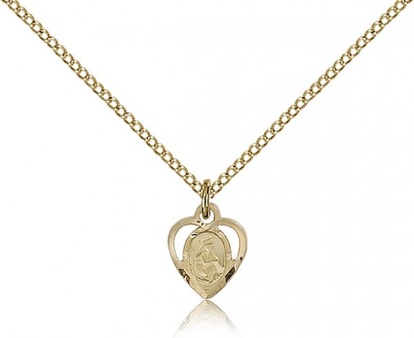 Petite Our Lady of La Salette Medal - 14KT Gold Filled