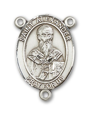 St. Alexander Sauli Rosary Centerpiece Sterling Silver or Pewter - Sterling Silver