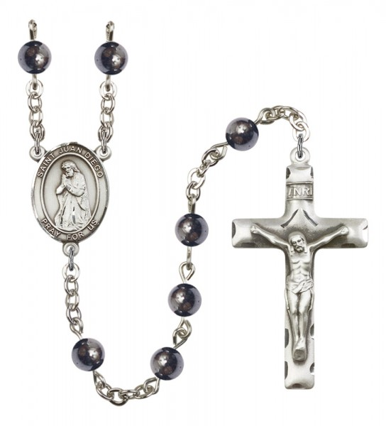 Men's St. Juan Diego Silver Plated Rosary - Gray