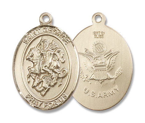 St. George Army Medal - 14K Yellow Gold