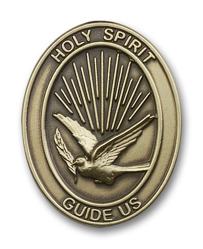 Holy Spirit Visor Clip - Antique Gold