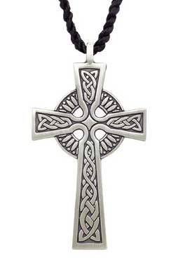 Celtic Cross Pendant - Pewter