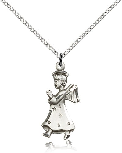 Angel Medal - Sterling Silver