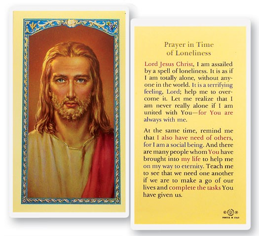 Prayer In Time of Loneliness Laminated Prayer Cards 25 Pack - Full Color