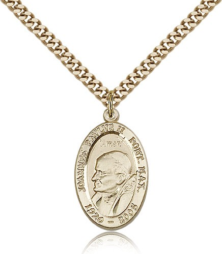 Saint John Paul II Medal - 14KT Gold Filled