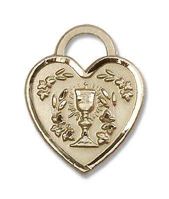Communion Heart Pendant - 14KT Gold Filled