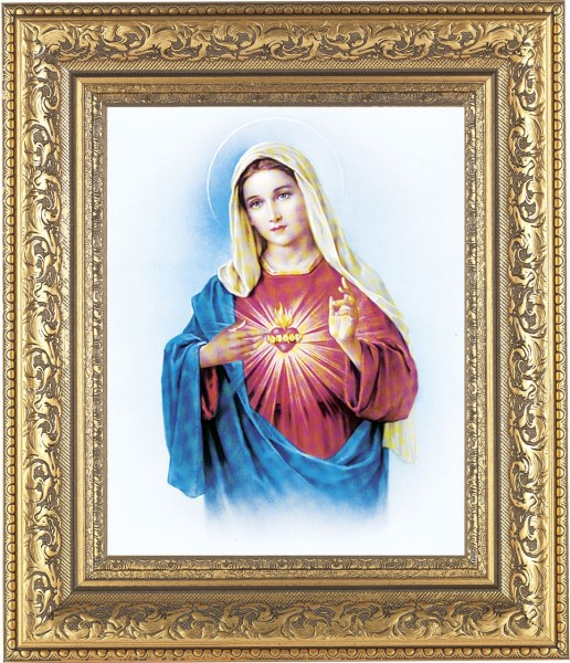 Immaculate Heart of Mary Framed Print - #115 Frame