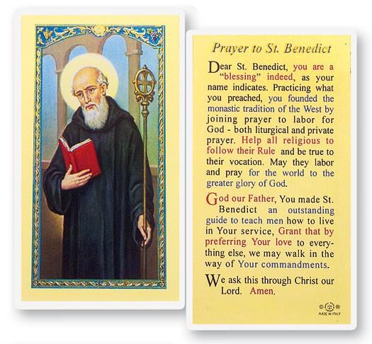 St. Benedict Laminated Prayer Cards 25 Pack