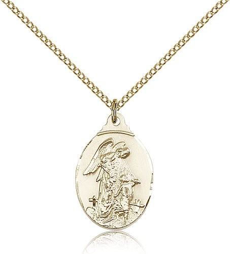 Women's Guardian Angel Pendant - 14KT Gold Filled