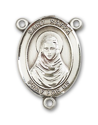 St. Rafka Rosary Centerpiece Sterling Silver or Pewter - Sterling Silver
