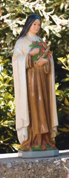 St. Therese Statue 16.75 Inches - Detailed Color Finish