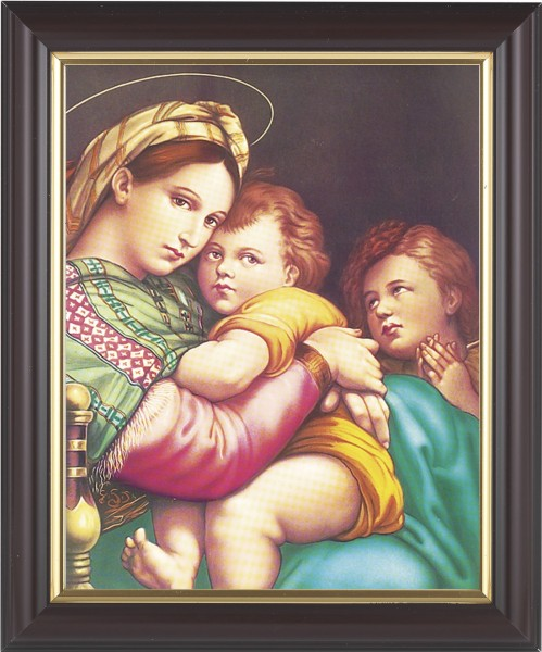 Madonna and Child with Saint Gabriel Framed Print - #133 Frame