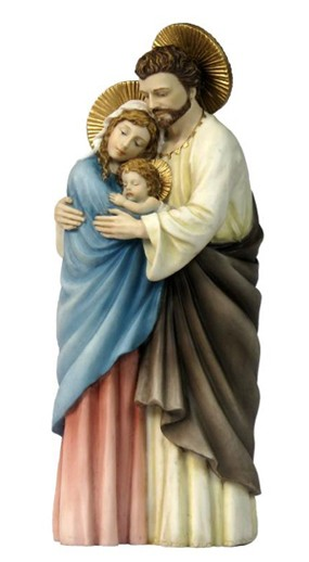 Holy Family Statue - 10 Inches - Multi-Color