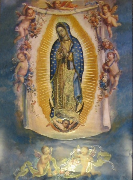 Our Lady of Guadalupe with Angels Large Poster - Full Color