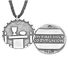 My First Holy Communion Pendant - Silver