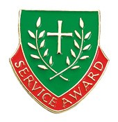 Service Award Lapel Pin - Green | Red | Gold