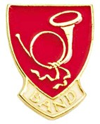 Band Lapel Pin - Red