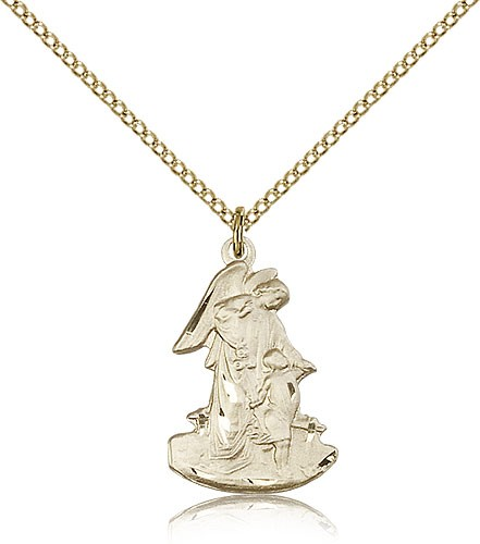 Guardian Angel Medal - 14KT Gold Filled