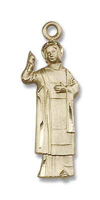 St. Stephen the Martyr Medal - 14K Solid Gold