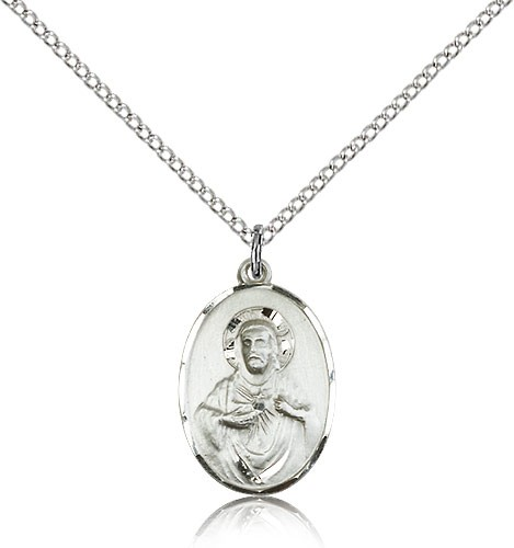 company silver medal sterling catholic small scapular the necklace