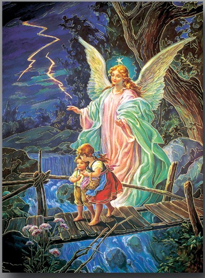 Guardian Angel Large Poster - Full Color