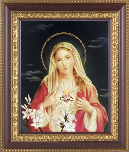 Immaculate Heart of Mary Framed Print - #126 Frame