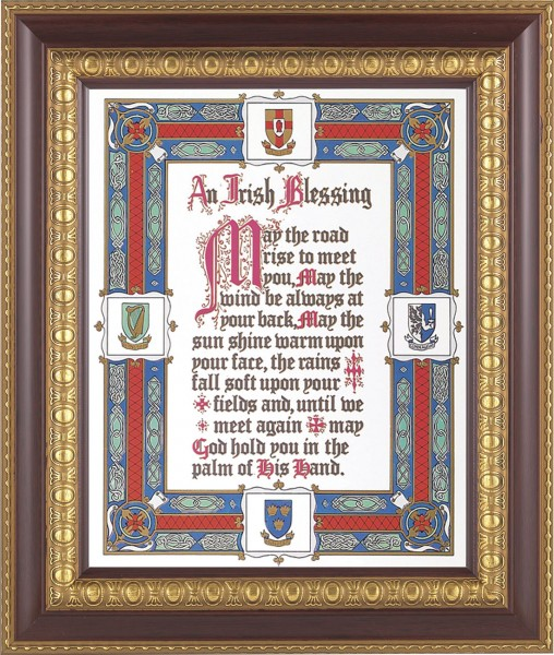 An Irish Blessing Framed Print - #126 Frame