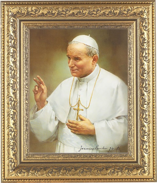 Pope John Paul II Framed Print - #115 Frame