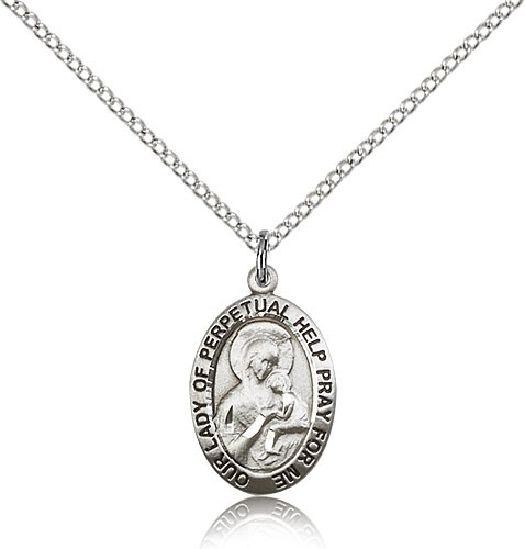 Women's Our Lady of Perpetual Help Medal - Sterling Silver