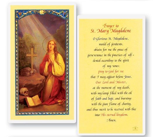 Prayer To Mary Magdalene Laminated Prayer Cards 25 Pack - Full Color