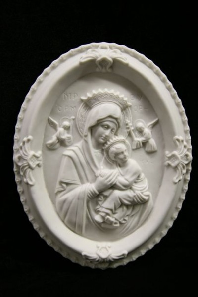 Our Lady of Perpetual Help Wall Plaque White - 9 inch - White
