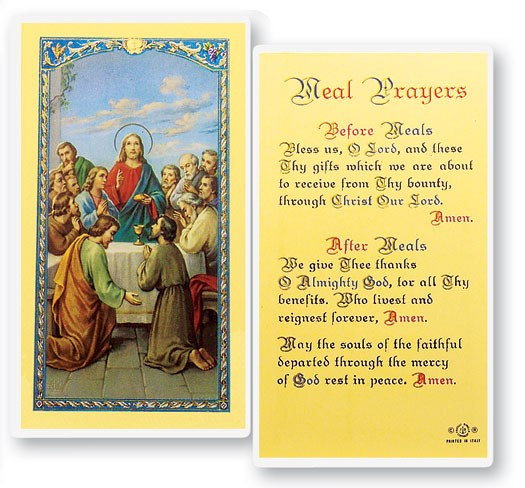 Meal Prayers, The Last Supper Laminated Prayer Cards 25 Pack - Full Color