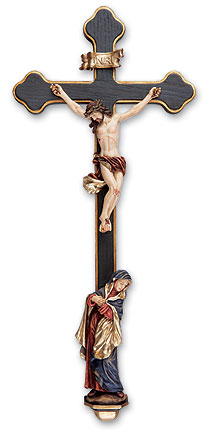Tomaso Sorrowful Mother Crucifix - Full Color