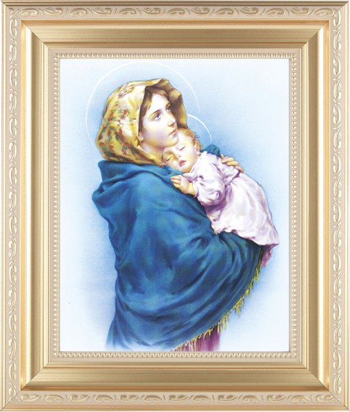 Madonna and Child Framed Print - #138 Frame