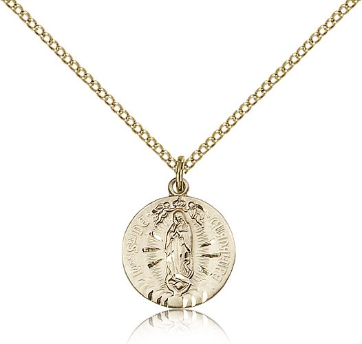 Petite Our Lady of Guadalupe Medal - 14KT Gold Filled