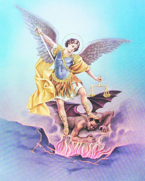 St. Michael Print - Sold in 3 per pack - Multi-Color