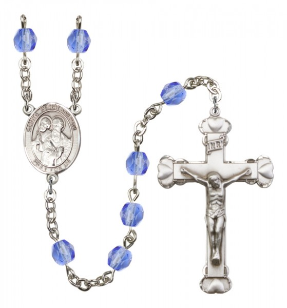 Women's Sts. Peter & Paul Birthstone Rosary - Sapphire