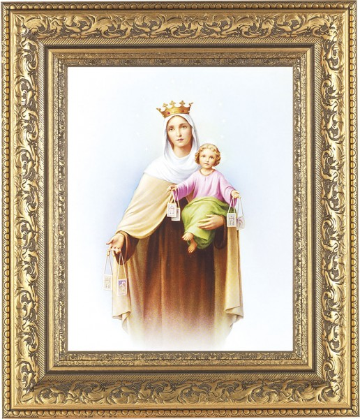 Our Lady of Mt. Carmel Framed Print - #115 Frame