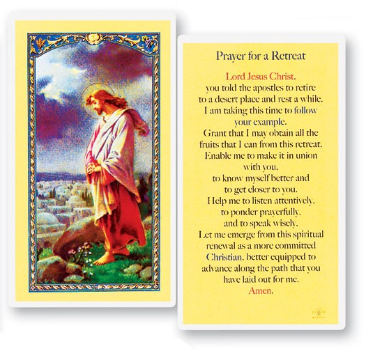 Prayer For A Retreat Laminated Prayer Cards 25 Pack - Full Color