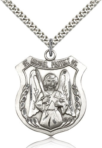 Men's St. Michael The Archangel Medal - Sterling Silver
