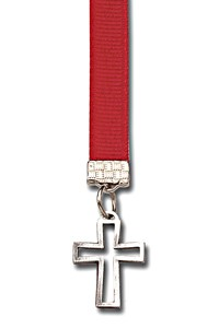 Openwork Cross Bookmark - 12 Colors Available - Red