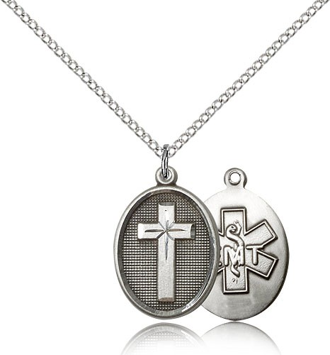 Cross EMT Pendant - Sterling Silver