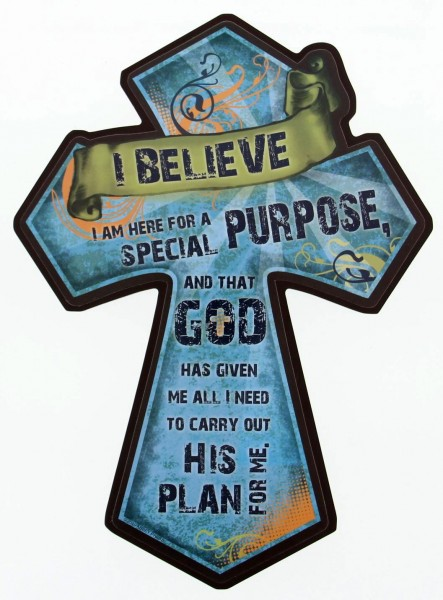 "Confirmation Cross Plaque - 12""H - Blue"