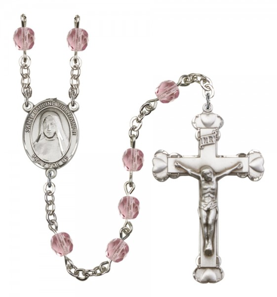 Women's St. Pauline Visintainer Birthstone Rosary - Light Amethyst