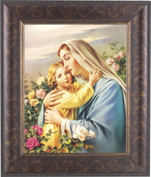 Madonna and Child in the Garden Framed Print - #124 Frame