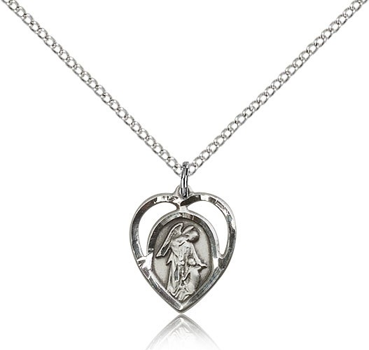 Guardian Angel Pendant - Sterling Silver